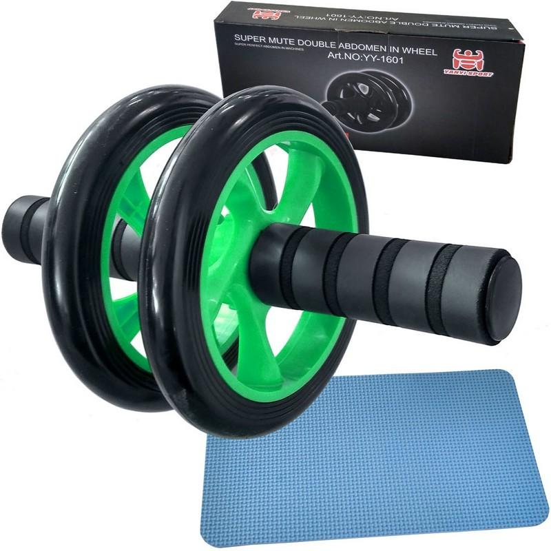Ролик гимнастический двухрядный C28958-4 зеленый