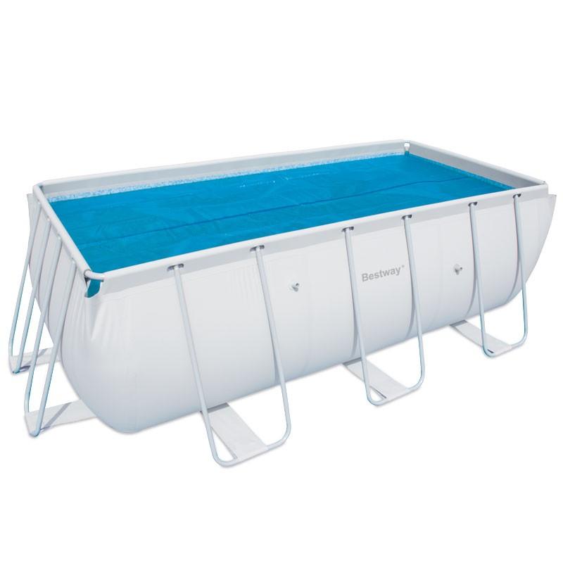 Чехол защитный для бассейна прямоугольного на стойках Bestway 58232