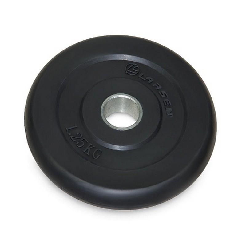 Диск обрезиненный Larsen черный д26мм 1,25кг NT121
