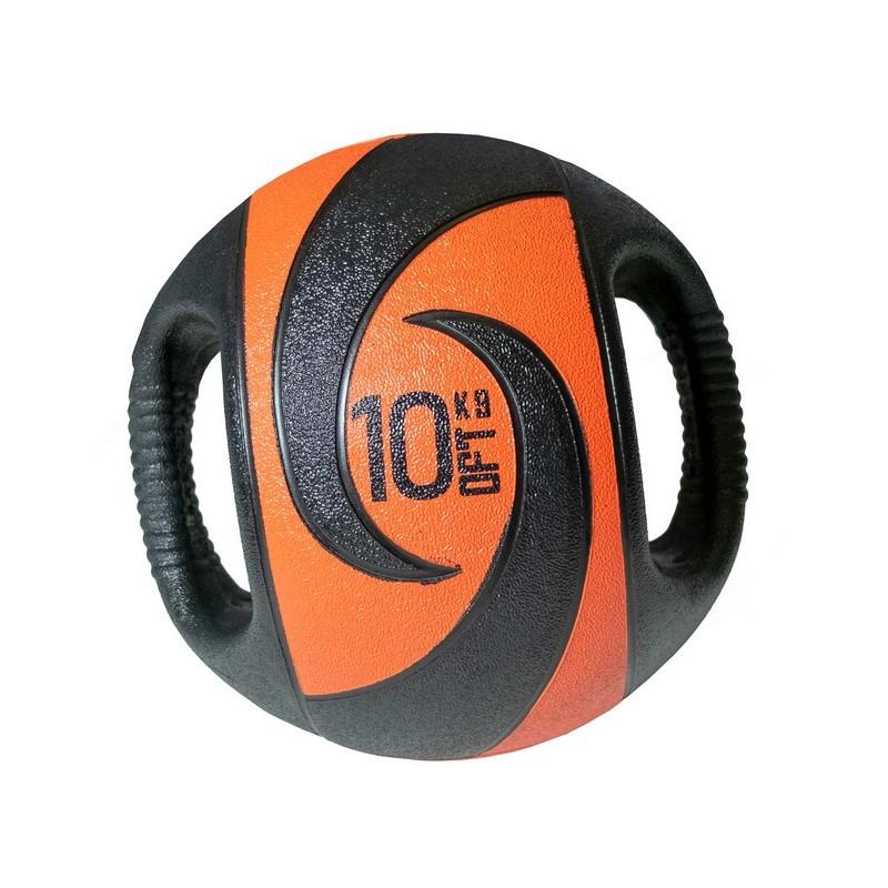 Мяч тренировочный Original Fit.Tools 10 кг, с хватами FT-DHMB-10