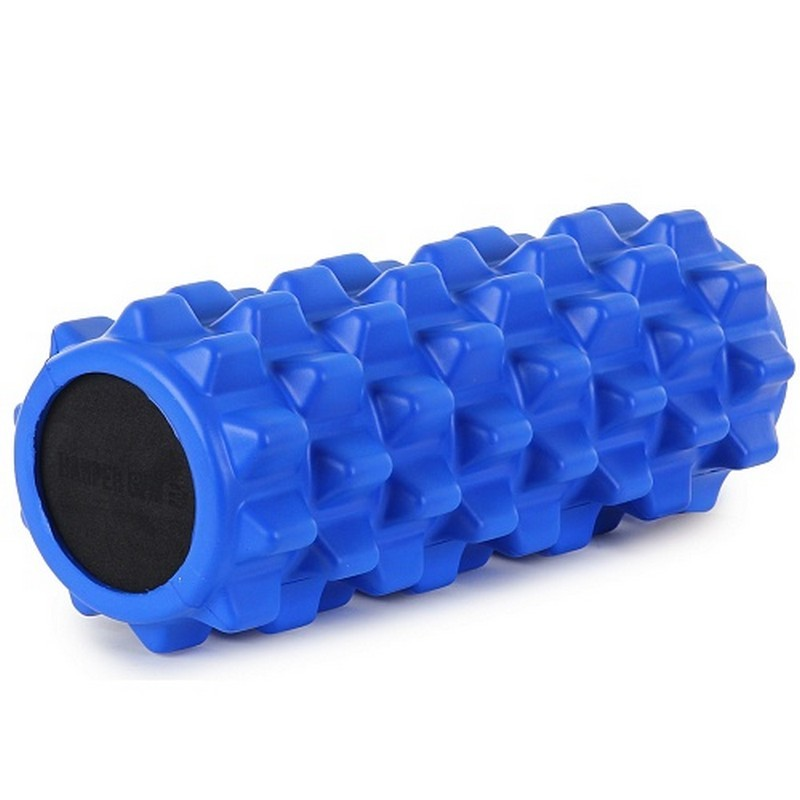Цилиндр рельефный для фитнеса 13х33см Harper Gym EG03 синий