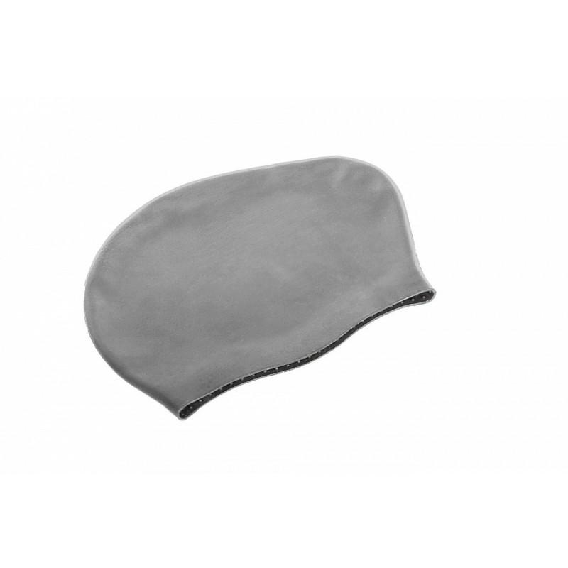 Шапочка для плавания силиконовая для длинных волос Bradex SF 0365 серый