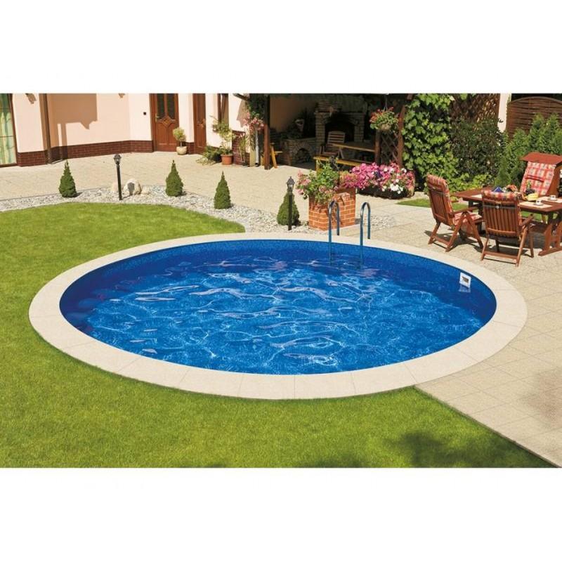 Морозоустойчивый бассейн Ibiza круглый глубина 1,2 м диаметр 4 м, голубой