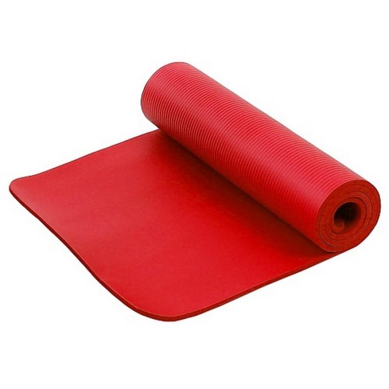 Коврик для фитнеса и йоги Larsen NBR красный р183х61х1см