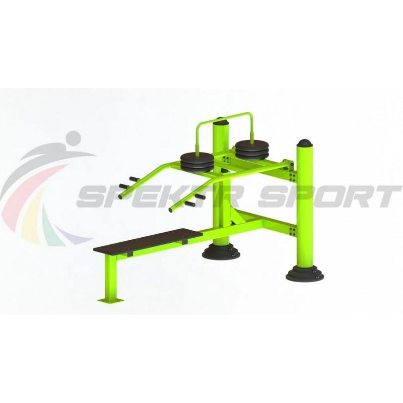 Уличный тренажер взрослый Жим лежа с изменяемой нагрузкой Spektr Sport ТС 140