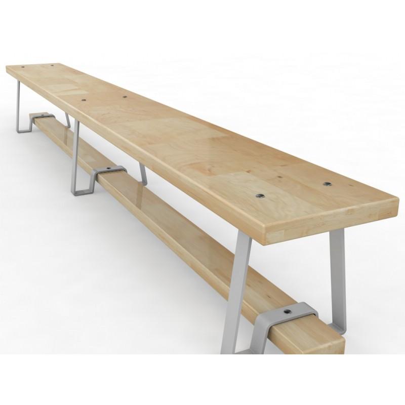 Скамейка гимнастическая с металлическими ножками Glav 04.300.1-2500 Длина 250см