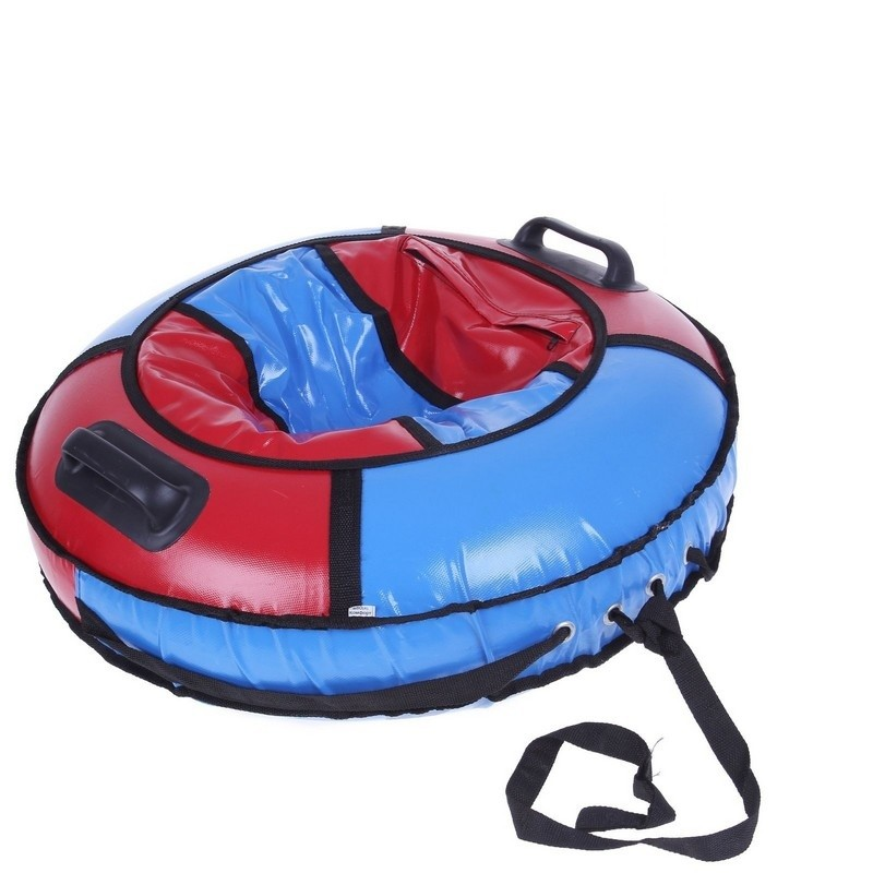 Надувная ватрушка (тюбинг) Комфорт d100см Polytube с автокамерой PT10086 красно-голубой