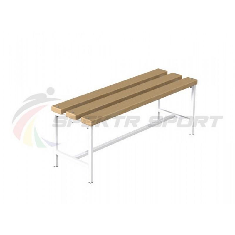 Скамейка для раздевалок без спинки, 200 см Spektr Sport цельная