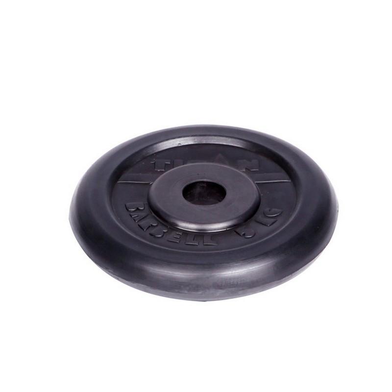 Диск обрезиненный d26мм Titan 5кг черный