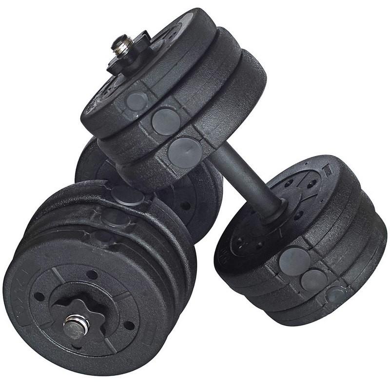 Гантельный набор разборный DBP-30 2х15кг (пластик/цемент) 30кг