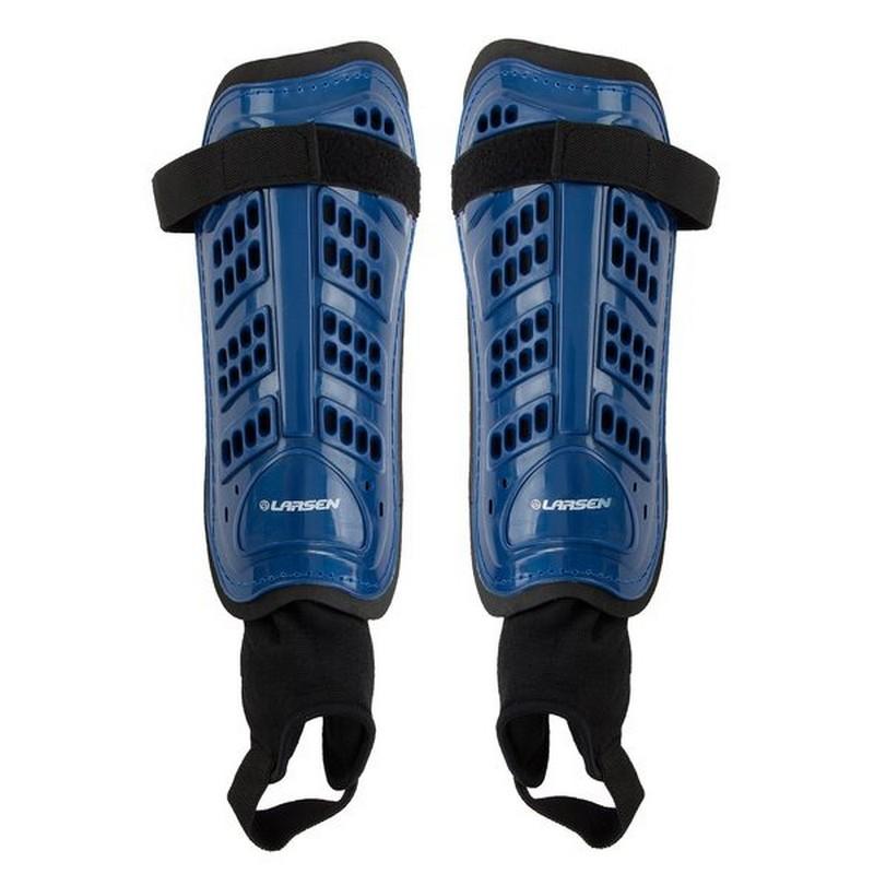 Щитки футбольные с защитой голеностопа Larsen 6820N голубой