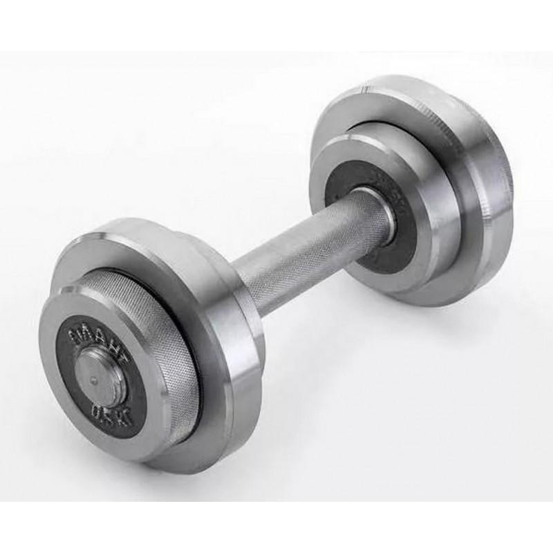 Гантель разборная с галтованными дисками 5кг (металл) ГА-5
