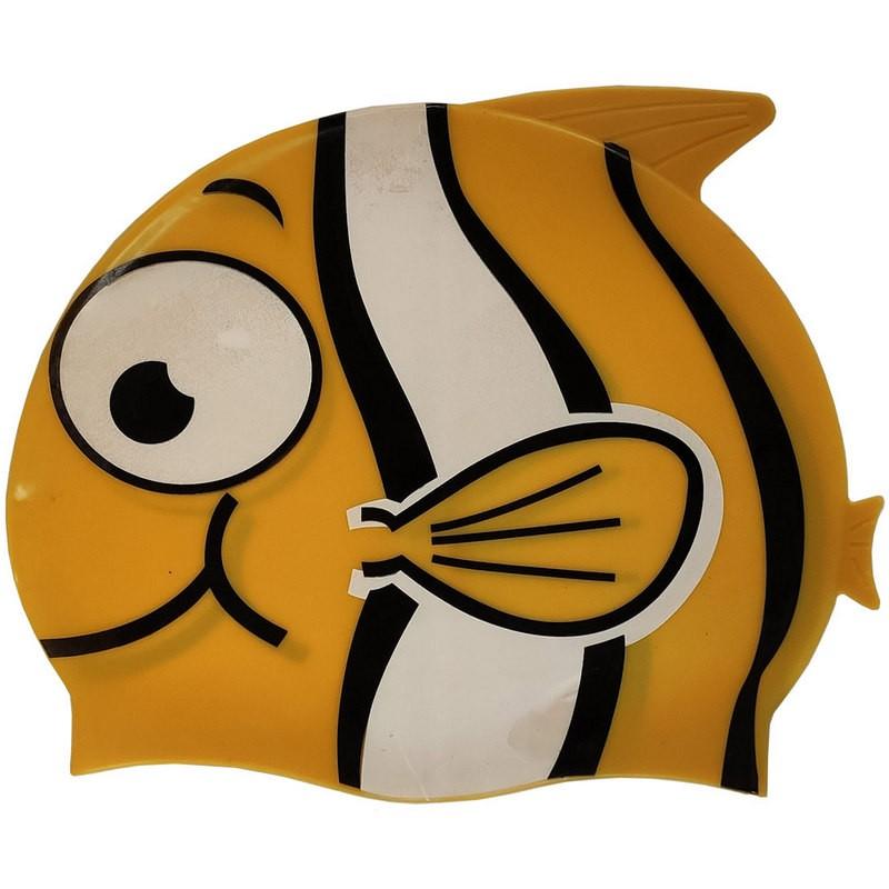 Шапочка для плавания силиконовая с принтом B31515-3 (Золотой)