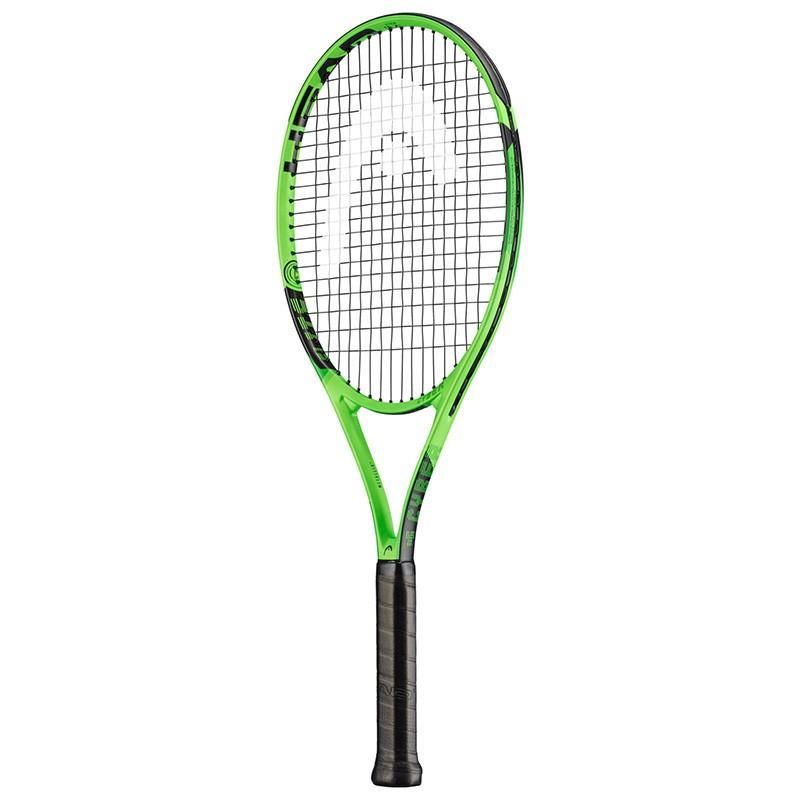 Ракетка для большого тенниса Head MX Cyber Elit Gr2, 231929, для любителей, алюминий, со струнами,зелено-черный