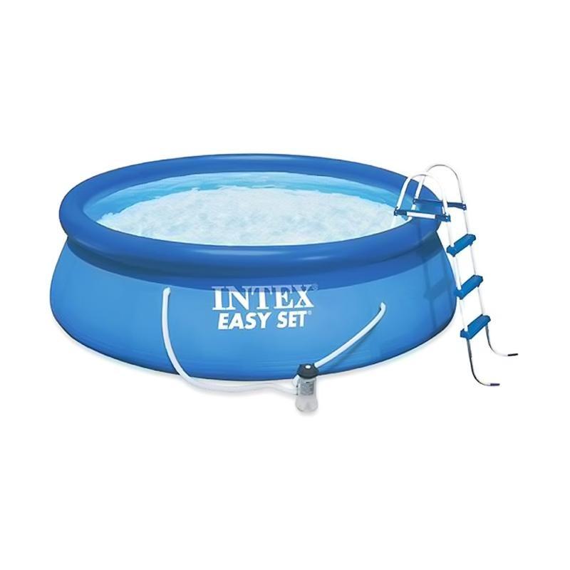 Бассейн с надувным верхним кольцом 457х122см Intex 28168