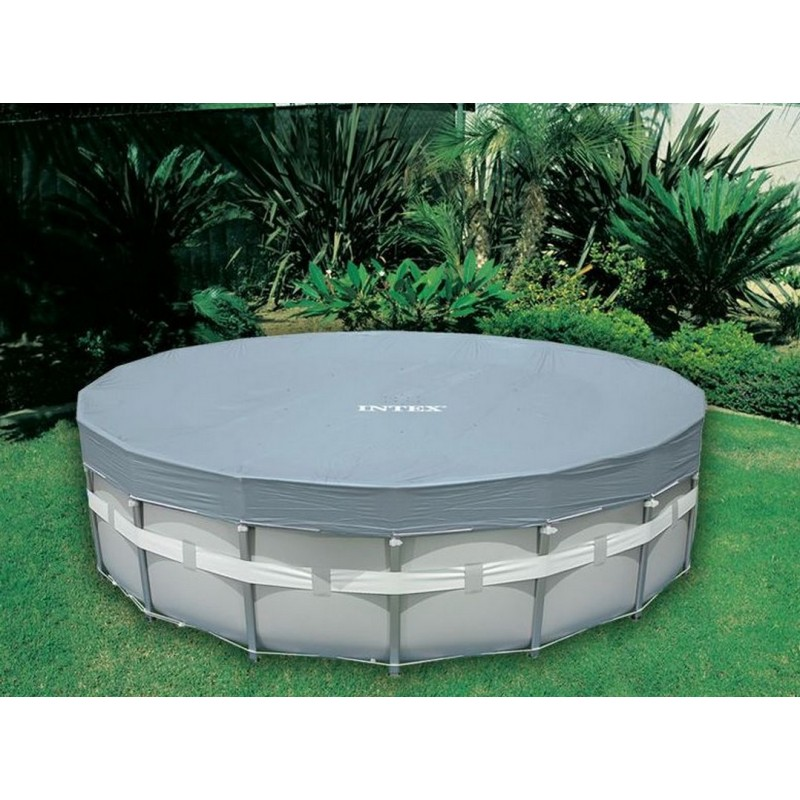 Тент Intex для каркасных круглых бассейнов d549см 28041
