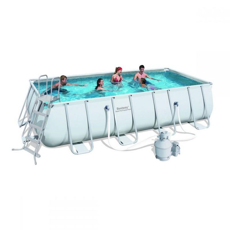 Каркасный бассейн прямоугольный 549х274х122см Bestway Power Steel 56466
