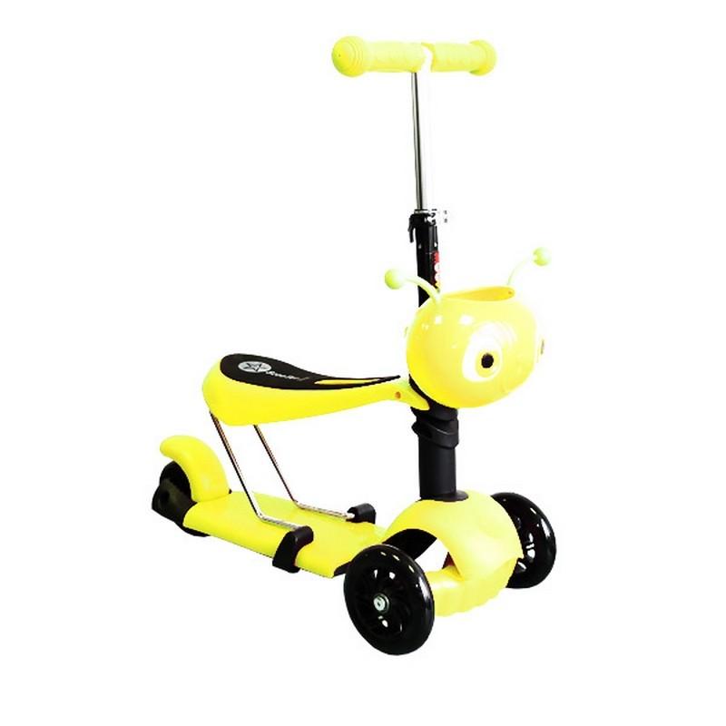 Самокат транфсормер Moove Fun Пчёлка MF-SCST-02 yellow