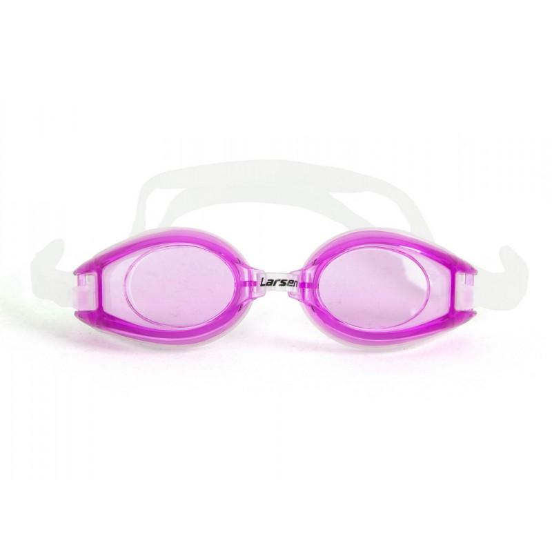 Очки для плавания Larsen R1281 розовый