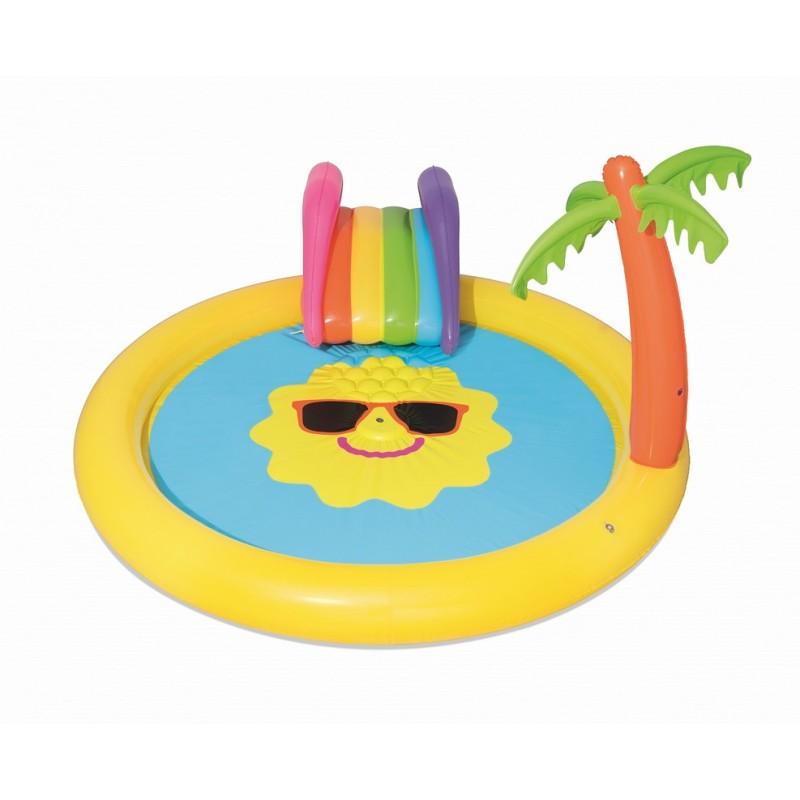 Детский игровой бассейн с принадлежностями Bestway Солнышко 237х201х104 см 53071