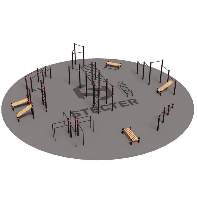 Проект Stecter Районная площадка для Воркаут 3-2 5092