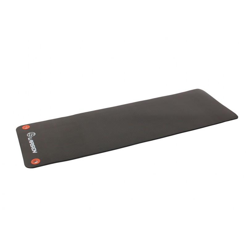 Коврик для фитнеса и йоги 183х60х1см Larsen NBR чёрный с люверсами