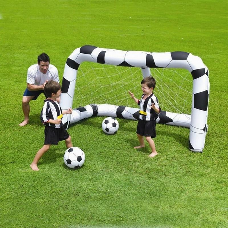 Футболный набор (надувные ворота 213х122х137см + 2 мяча 36см) Bestway 52058