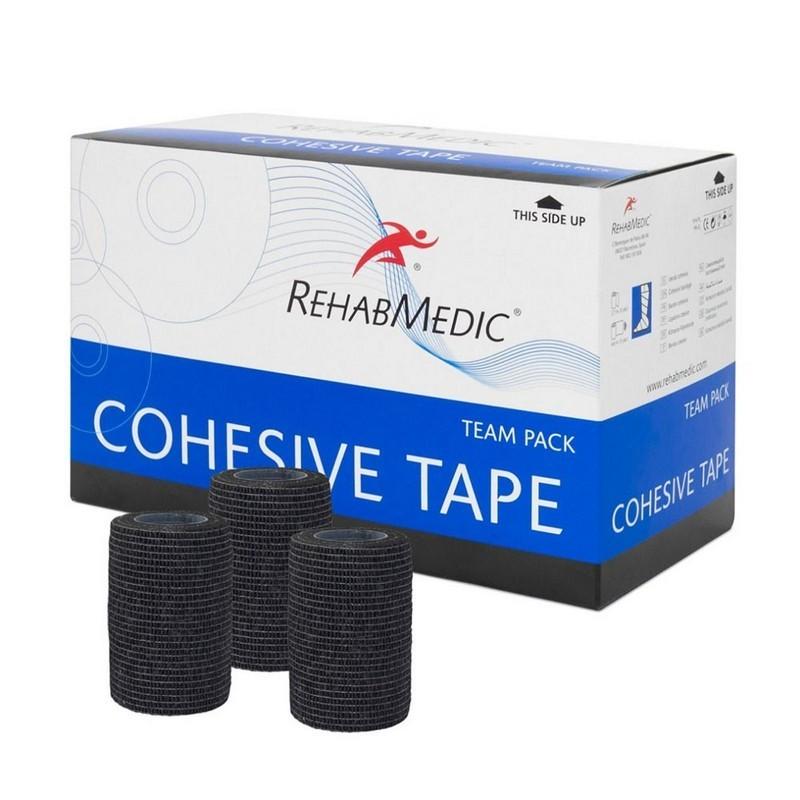 Тейп спортивный когезивный Rehab Cohesive Tape RMV0213BK, 7.5см x 4.6м, уп. 20 шт, черный