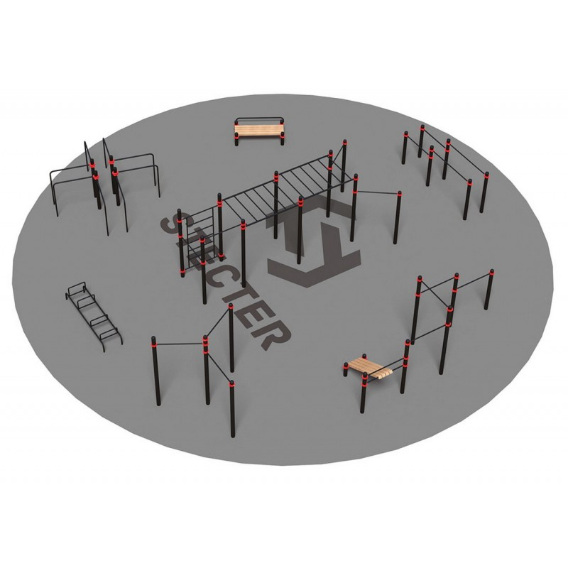 Проект Stecter Районная площадка для Воркаут 3-3 5091