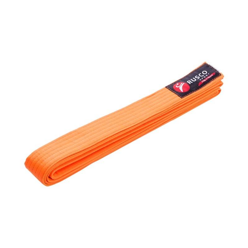 Пояс для единоборств Rusco 260 см, оранжевый