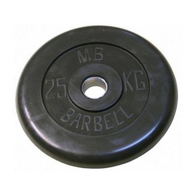 Диск обрезиненный d31мм MBBarbell MB-PltB31 25 кг черный