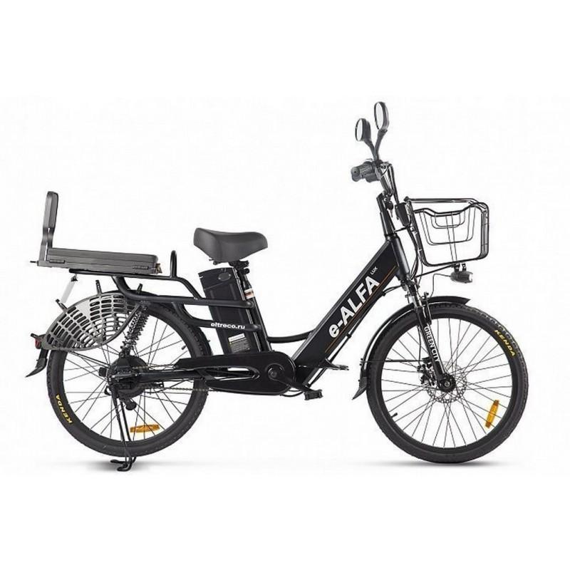 Велогибрид Green City e-Alfa Lux черный 022863-2395