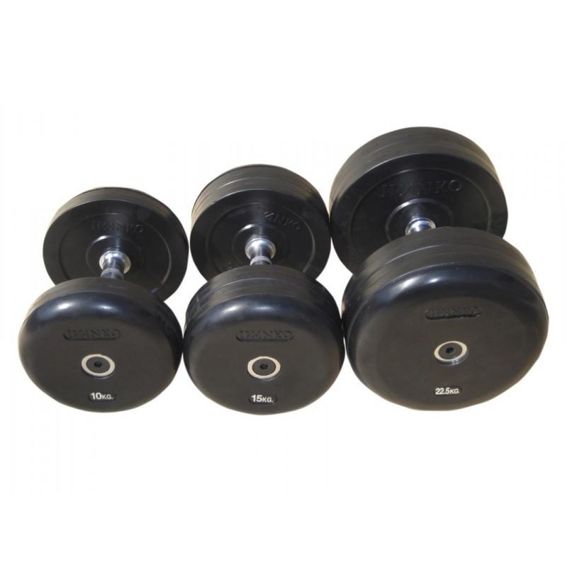 Гантель фиксированная обрезиненная Johns 57,5 кг 75074-57,5 чёрный