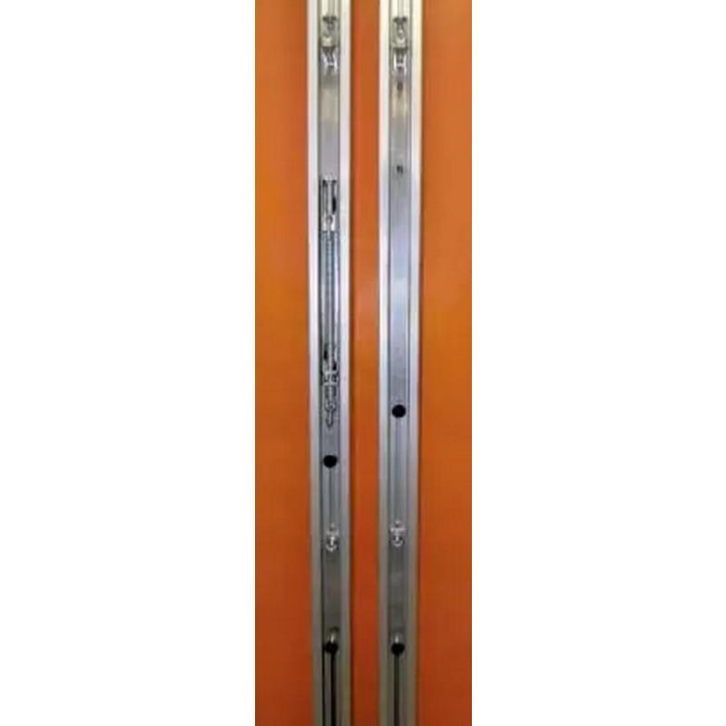 Стойки волейбольные круглые алюминиевые ф83 мм. Установка в стаканы высотой  350 мм с крышками (стаканы в комплекте) Haspo 924-516