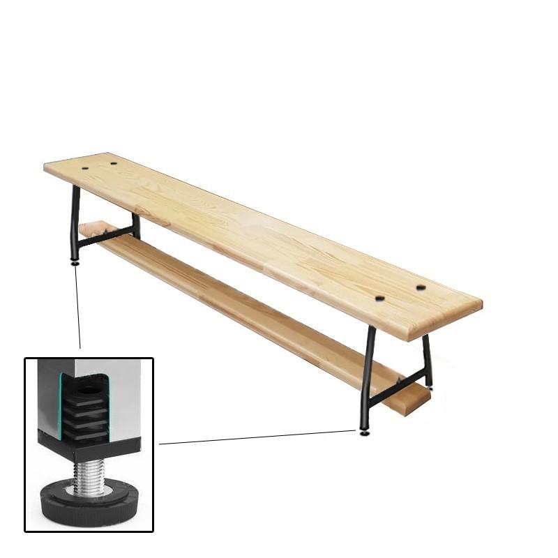 Скамейка гимнастическая Dinamika 1000мм (40 мм щит.сосна) ножки метал. с РО ZSO-003151