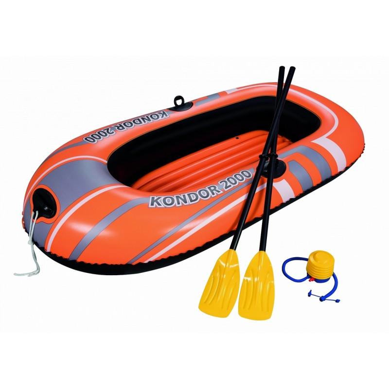Надувная лодка Bestway Hydro-Force Raft Set 188х98 см с вёслами и насосом 61062
