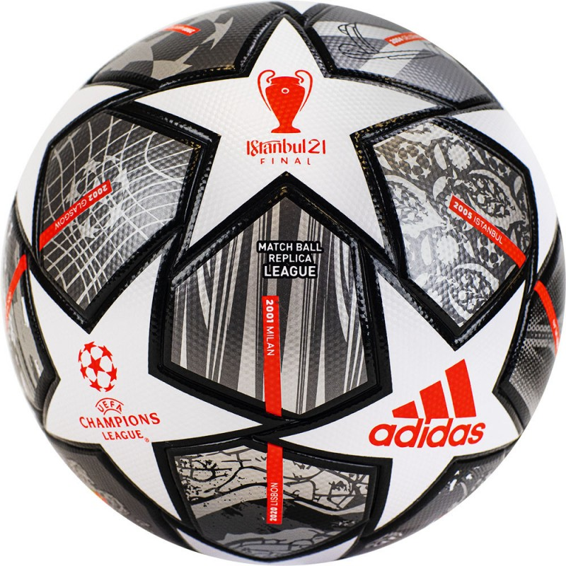 Мяч футбольный Adidas Finale Lge GK3468, р.4, бело-синий