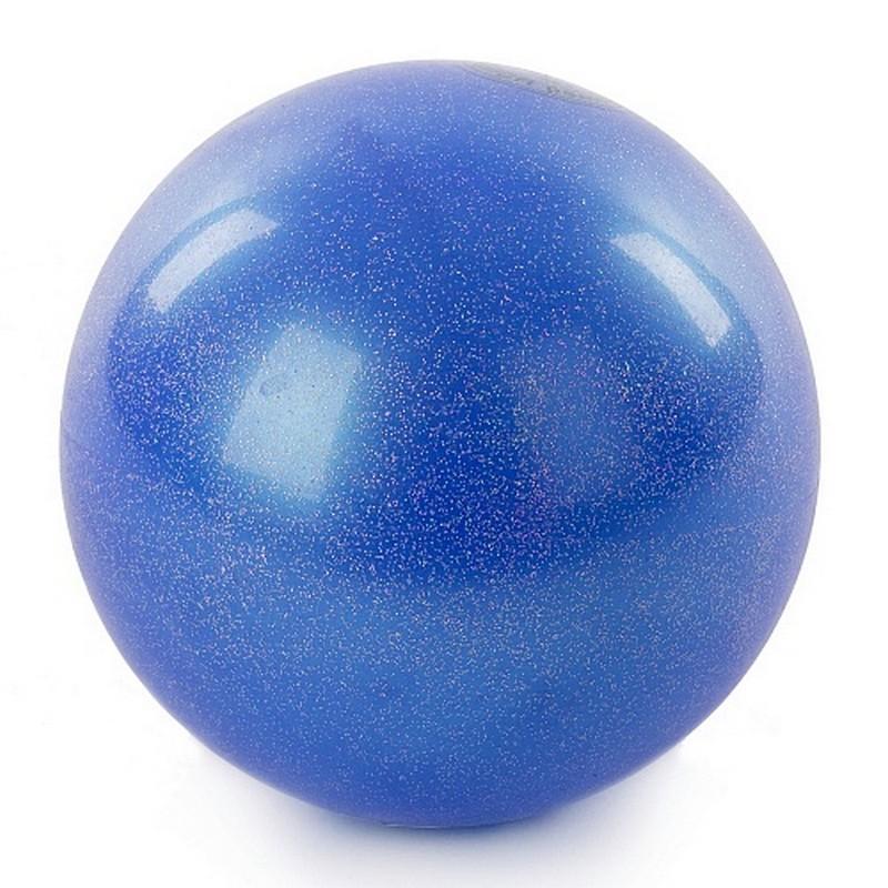 Мяч для художественной гимнастики 15 см AB2803B синий металлик