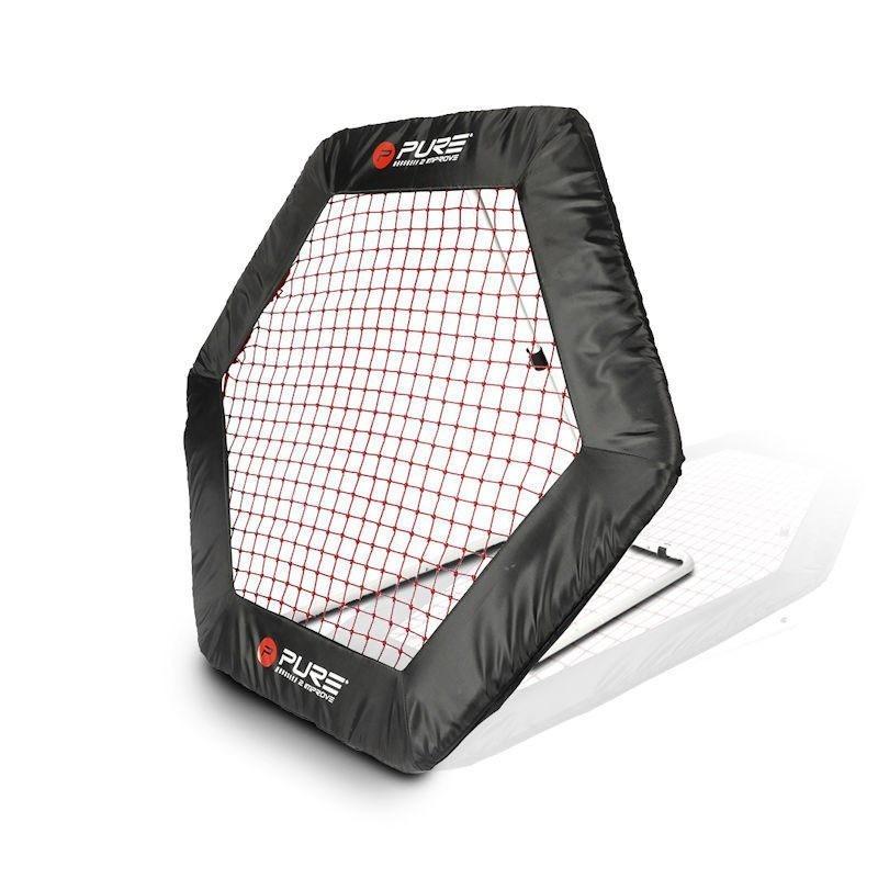 Футбольный тренажер стенка Pure2Improve Rebounder Hexagon 140x125 см P2I150130