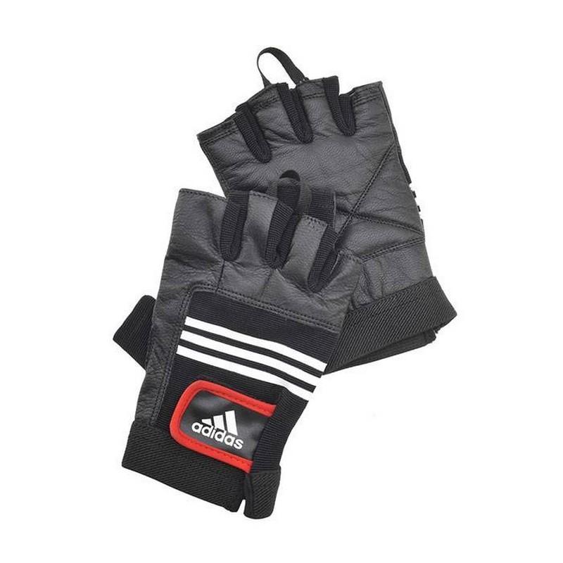 Тяжелоатлетические перчатки Adidas кожа ADGB-1212