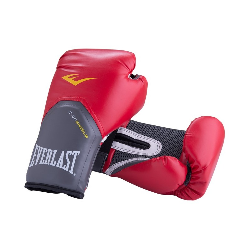 Перчатки боксерские Everlast Pro Style Elite 2114E, 14oz, к/з, красный
