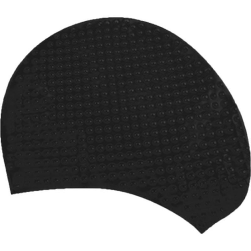 Шапочка для плавания Atemi, силикон (бабл), чёрный, BS20