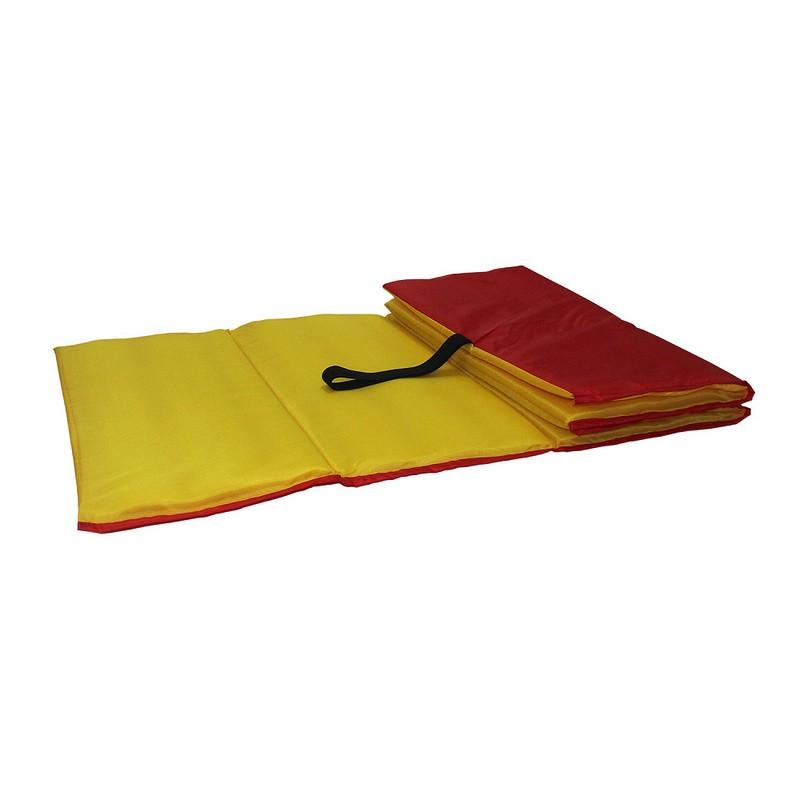 Коврик гимнастический Body Form 150x50x1 см BF-001 красный-желтый