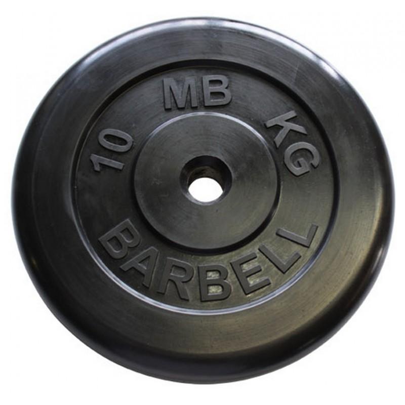 Диск обрезиненный d31мм MBBarbell MB-PltB31 10 кг черный
