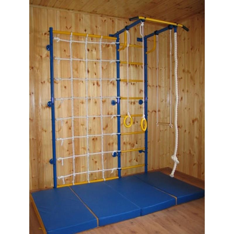 Домашний спортивный комплекс Городок пристенный+стойка с сеткой 100 см