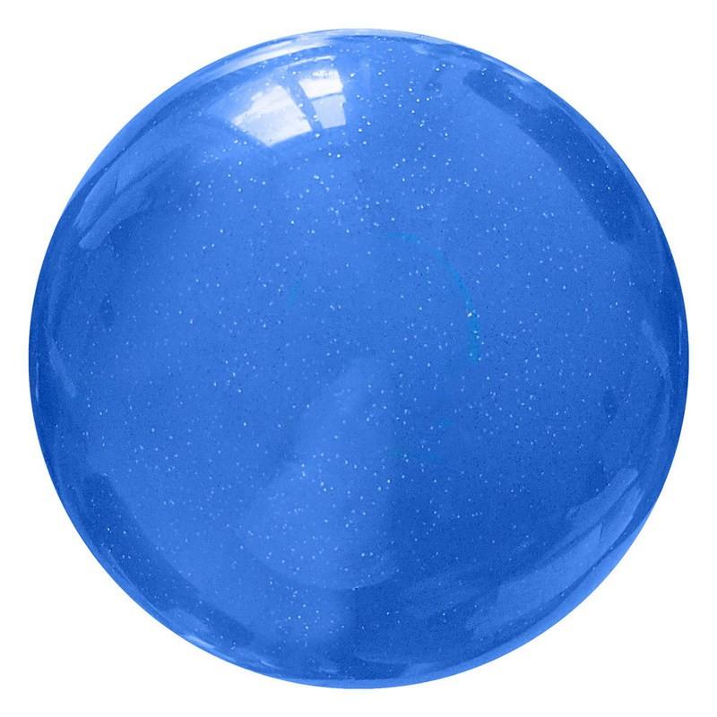 Мяч для художественной гимнастики T07574, синий с блестками