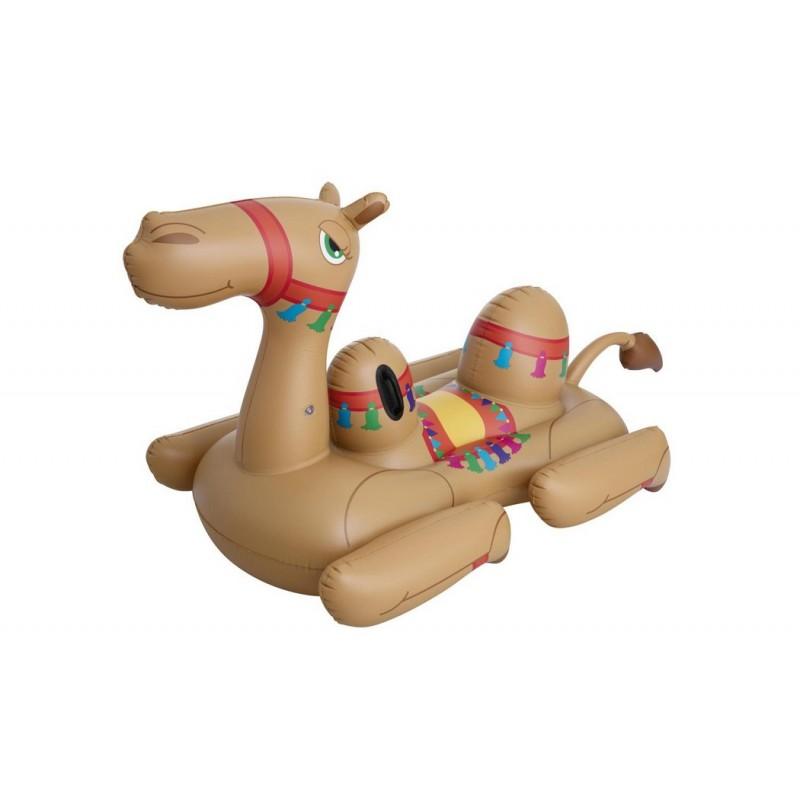 Надувной матрас-плот для плавания Bestway 221х132см Верблюд с ручками, до 90кг 41125