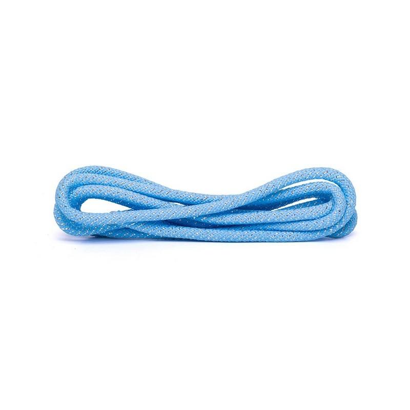 Скакалка для художественной гимнастики Amely RGJ-403 l3м, голубой\серебряный, с люрексом