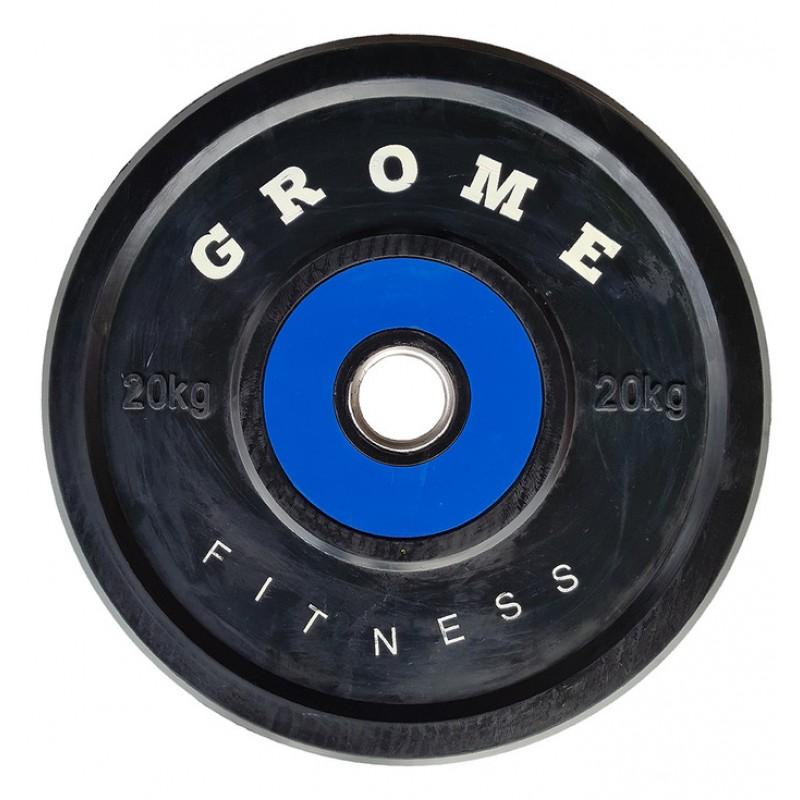 Диск обрезиненный Grome Fitness WP-080 20кг
