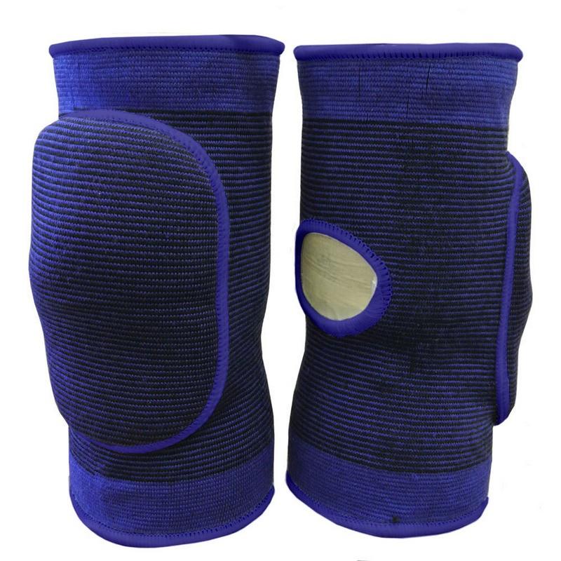 Наколенники волейбольные с дыркой NK-401 Синий\Синий